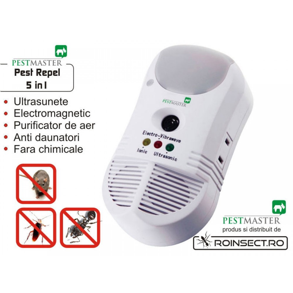 Aparat anti daunatori si purificator de aer Pestmaster 5in1 - 460 mp