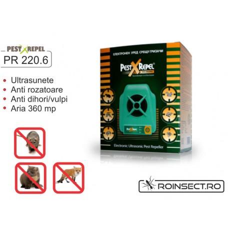 Electronic Pest Repeller cu ultrasunete - PR-220.6 - 360 mp
