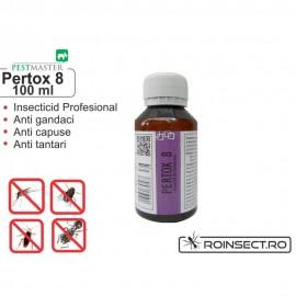 Solutie anti gandaci, muste, tantari, purici, capuse - Pertox 8 - 100 ml
