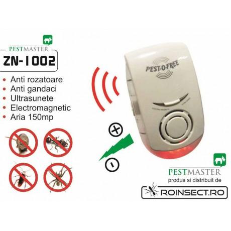 Pestmaster ZN1002 - Aparat  cu ultrasunete si unde elecromagnetice impotriva soarecilor, sobolanilor si a alor insecte taratoare.